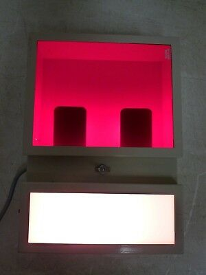 Darkroom Negative Light Box Safelight w/Kodak GBX-2 Red Filter