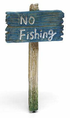 Miniature Dollhouse FAIRY GARDEN - No Fishing Sign - Accessories