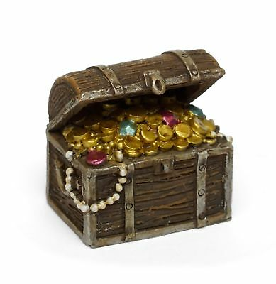 Miniature Dollhouse FAIRY GARDEN - Pirate Treasure Chest - Accessories