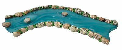 Miniature Dollhouse FAIRY GARDEN - River - Curved - Accessories