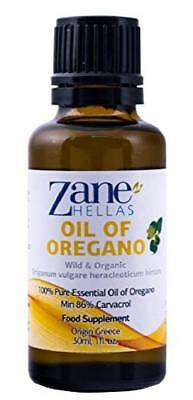 ZANE HELLAS Wild Pure Greek Essential Oil of Oregano with 86 Percent ...