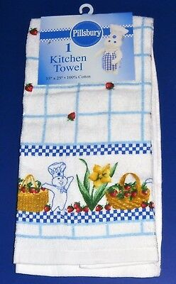 NWT 2005 Pillsbury Doughboy Multi with Red Strawberries Towel-Poppin Fresh Dough