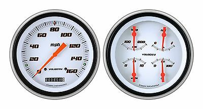 classic instruments 51-52 chevy car gauges ch51vsw52 speedo with quad set