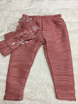 Size 0 La Sienna Couture Dusty Rose Leggings & Headband  New