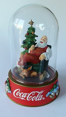 """Coca Cola Franklin Mint '96 Christmas Santa Figurine """"The Pause That Refreshes"""""""