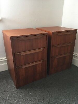 Pair Of Mid-Century Reliance Bedside Tables • Retro Danish Style