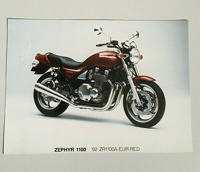 Kawasaki Zephyr 1100 Original advertising photo 1992 ZR1100
