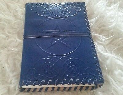 Pentacle leather bound diary/journal/book of shadows witchcraft gypsy witch