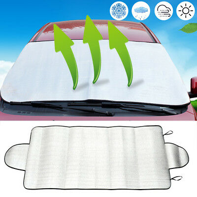 Front Rear Windshield Car Window Foldable Sun Shade Snow Ice Shield Protector