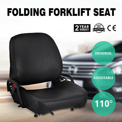 New Universal Folding Forklift Seat Foldable Premium Quality Free shipping