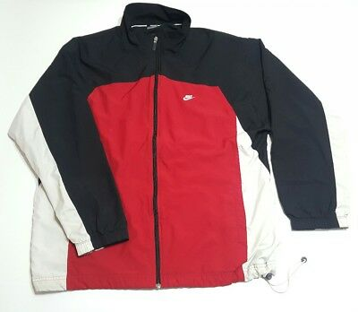 260edbd7d8f8 Vintage 90s Nike Windbreaker Track Jacket Coat Red White Black Colorblock XL