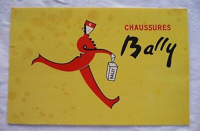 Ancien Buvard Publicitaire / Chaussures Bally