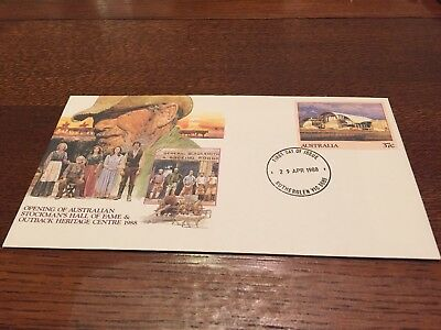 Opening Of Stockman's Hall Of Fame 1988- Pre Stamped Envelope