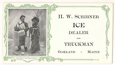 Vintage H W Scribner Ice Dealer And Truckman Oakland Maine Ink Blotter