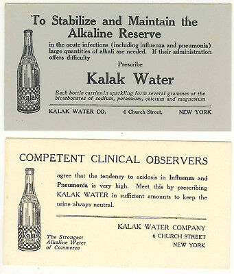 Vintage Kalak Alkaline Water Quack Medicine Ink Blotter Lot Of 2 Ink Blotters