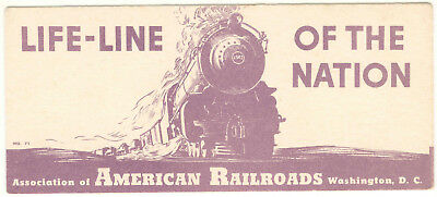 Vintage Life Line Of The Nation American Railroads Ink Blotter