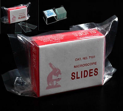 High Quality 100PCS Blank Microscope Slides with 100 Square Cover Glass