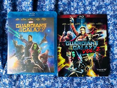 *Guardians of the Galaxy Volume 1-2 1 and 2 Blu-Ray Brand New Sealed
