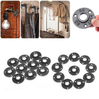 10PC 3/4''Durable Malleable Threaded Floor Flange Iron Fittings Pipe Wall Mount