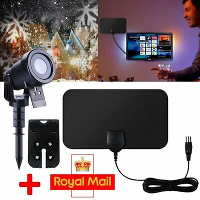 Flat Indoor Antenna Aerial HD TV Fox Scout  with Christmas LED Projector  Light