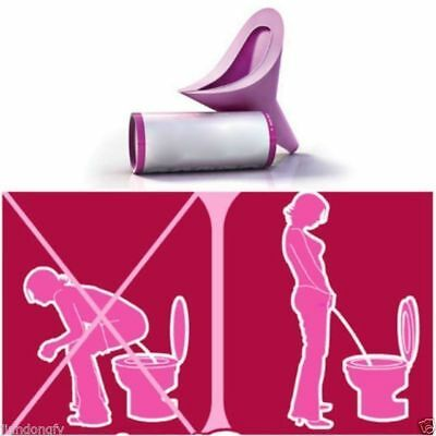New Go Lavender FUD Girl Female Urination Device in Box for Emergency PINK