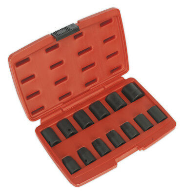 "Impact Socket Set 13pc 1/2""Sq Drive Metric - Sealey - AK5613M"