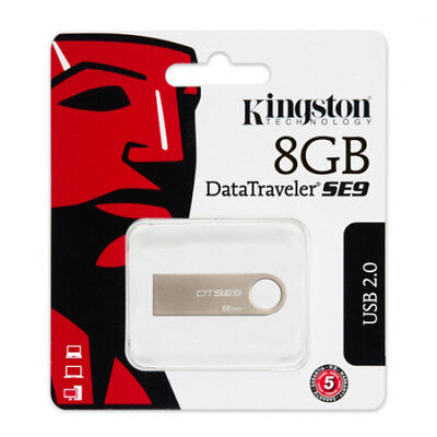 Kingston 8 GO GB DataTraveler SE9 USB Lecteurs Flash stick clé Memoria Drive 8Go
