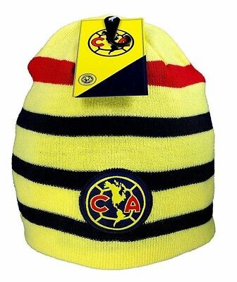 b33d543a95d Club America Winter Fitted Reversible Knit Beanie Hat Skully Cap NWT