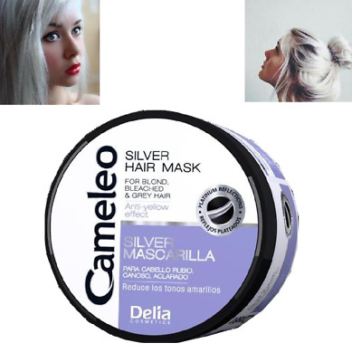 Delia Silver Hair Mask for Blond Bleached Grey Hair  Effect 200ml