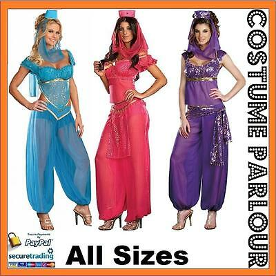 Womens Bollywood Indian Princess Dancer Ladies Fancy Dress Costume All Sizes