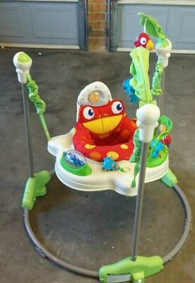 Fisher price  rainforest activity jumperoo baby bouncer $279