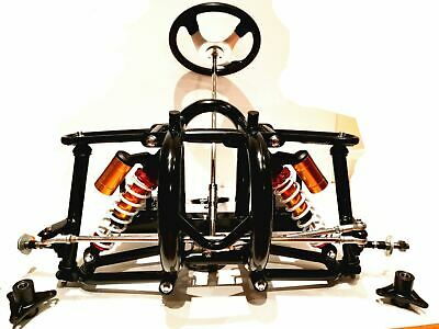 Front Frame Shock Steering Wheel Stub Axle Go Kart Buggy Chassis Kit Project