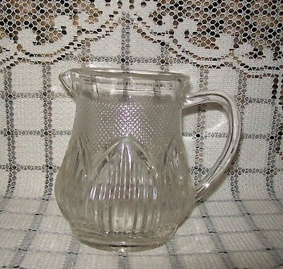 SMALL VINTAGE CLEAR GLASS with raised edge pattern 9.5cm