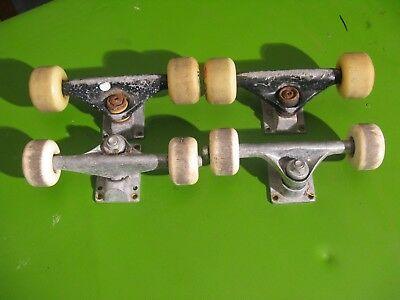 Skateboard Trucks And Wheels 2 Sets  - 8 Wheels 4Trucks