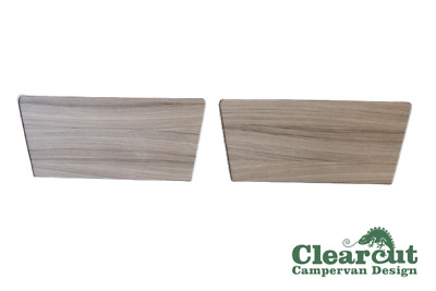 2 x VW T5/T6 Passenger/Driver Single Seat Base Cover, Driftwood Light Weight Ply