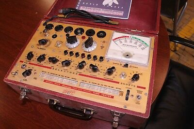 HICKOK SERIES 600a GM TUBE TESTER - SHOWN TESTING TUBES - SERVICED