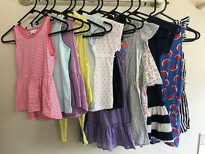 Girls Size 5 & 6 Summer Clothing 13 Items Dresses & Tops Bundle