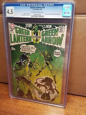 Green Lantern #76 (Apr 1970) CGC 4.5 WITH OFF WHITE TO WHITE PAGES! KEY ISSUE!