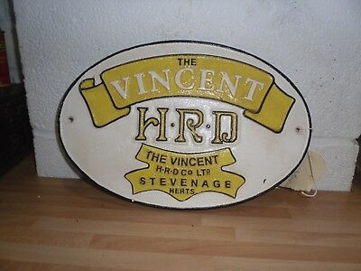Cast Iron Vincent Plaque