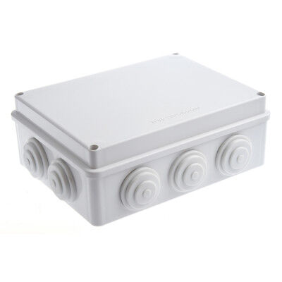 White ABS IP65 Waterproof EnClosure Junction Box 200mmx155mmx80mm C8N5 M5W8