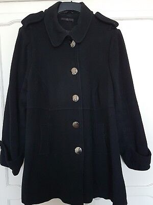 Womens coat bundle size 26/28. Both black. 1 thigh length and 1 shorter.