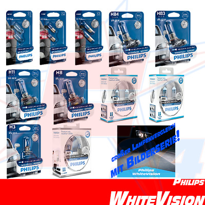PHILIPS WhiteVision Xenon Look ALLE H1 H3 H4 H7 H8 H11 W5W T4W H6W HB3 HB4