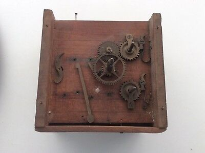Antique clock movement/Frame/Glass and other bits for repair or spare