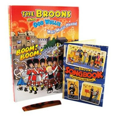 The Broons and Oor Wullie MAIR MUSIC PLEASE! Hardback Annual, Songbook & Comb