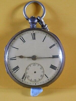 Antique Solid Silver Fusee Pocket Watch - Movement Number 11129