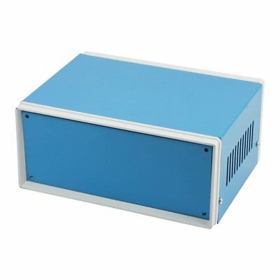"6.7"" x 5.1"" x 3.1"" Blue Metal Enclosure Project Case DIY Junction Box F5W4 G4D9"