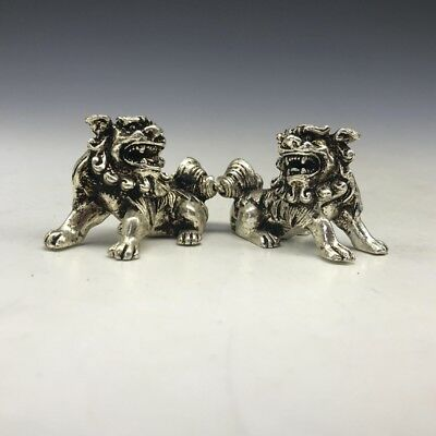 Chinese ancient pure bronze pure handmade lion statue exquisite design