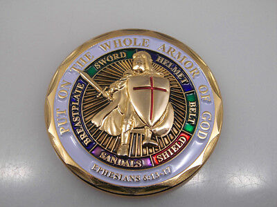 United States Army Put On The Whole Armor Of God Challenge Coin
