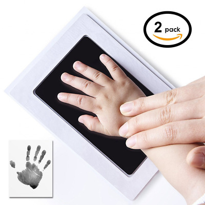 2-Pack UnicornTech Handprint Footprint Ink Pads Photo Frame | Safe Non-Toxic Ink