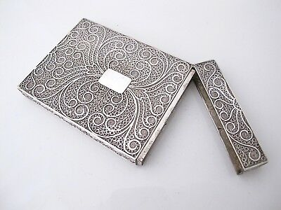 Stunning William IV silver filigree card case Taylor & Perry 1832
